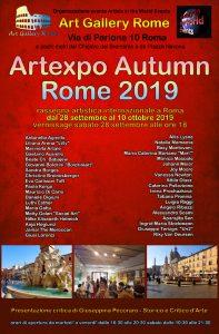 locandina artexpo autumn rome 2019rr